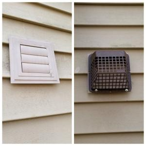 Vent Covers for Bathrooms and Dryers